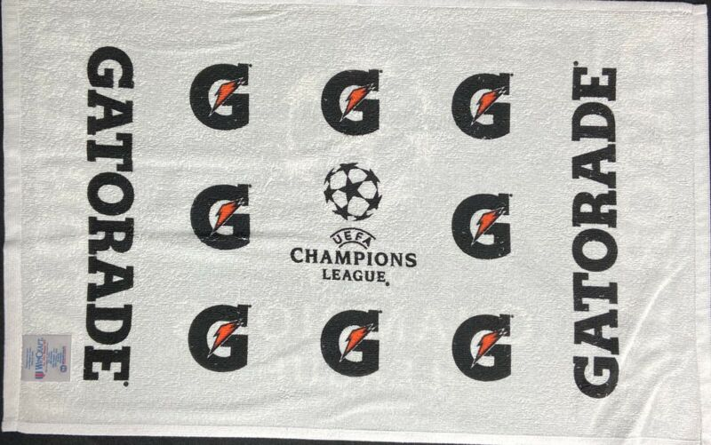 "UEFA Champions League Gatorade Soccer Towel Brand New 24"" x 16"" Rare 2 Sided"