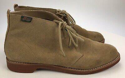 Bass Byron Light Tan Suede Leather 3 Eye Chukka Boots Shoes Women's 8.5 M Brown 3 Eye Shoes Boots