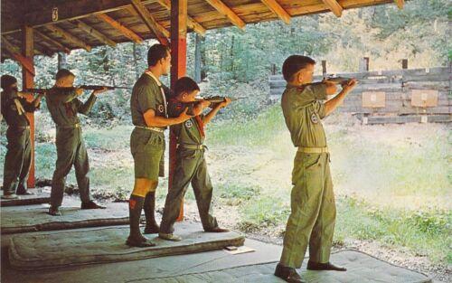 MO ST LOUIS 1962 RIFLE RANGE Boy Scouts of America Mint postcard BS5