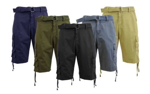 Mens Cotton Utility Cargo Shorts Work Lounge Zip Button Work Nwt Sizes - 30-42