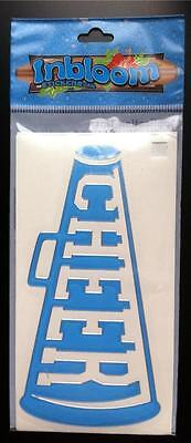Inbloom Stickers (NEW INBLOOM *CHEER* BLUE VINYL STICKER DECAL CAR WINDOW HOME 5
