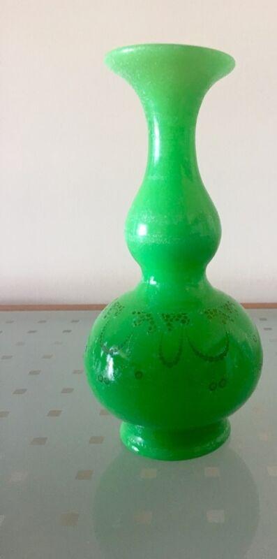 bright green antique vase