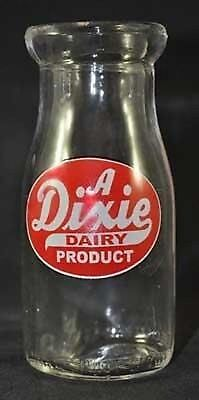 DIXIE DAIRY PRODUCT CLEAR MILK BOTTLE