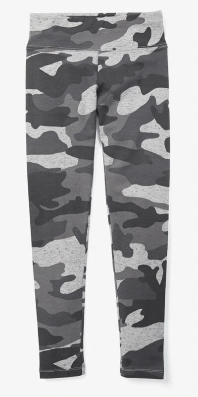 Justice Girls Size 7 Gray Camo Leggings Grey New