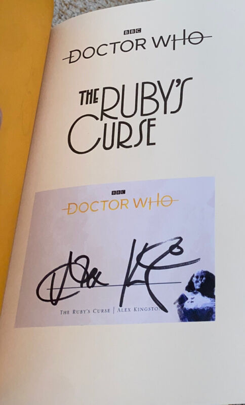 Alex Kingston signed book The Ruby's Curse Doctor Who
