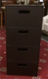 Faux leather set of drawers