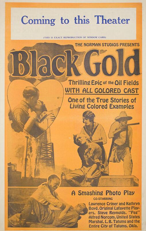 Black Gold 1928 U.S. Pressbook