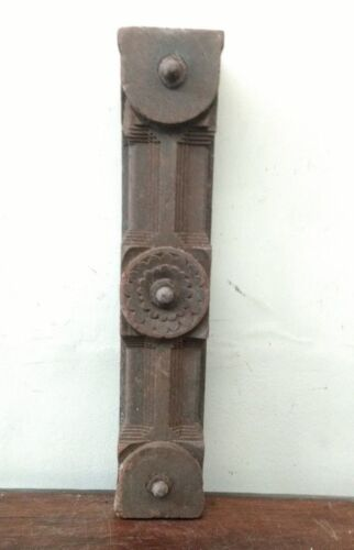 Antique Door Wall Panel Beam Wooden panel w Knob Ancient Estate Decor Rare