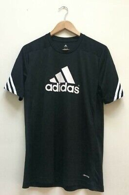 Mens Adidas Climalite Black Gym Sports Running Football T-Shirt Top Size Medium  for sale  Shipping to Nigeria