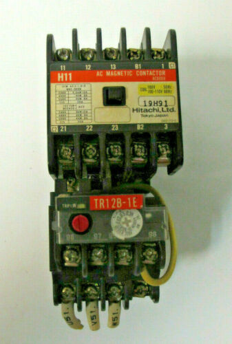 HITACHI H11 19H91 AC Magnetic Contactor AC600V W/Thermal Overload Relay TR12B-1E
