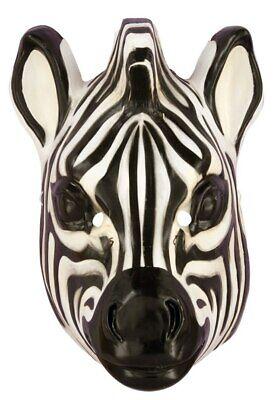 Zebra Mask (Zebra Plastic Half Mask Wild Animal PVC Jungle Safari Costume Accessory Prop)