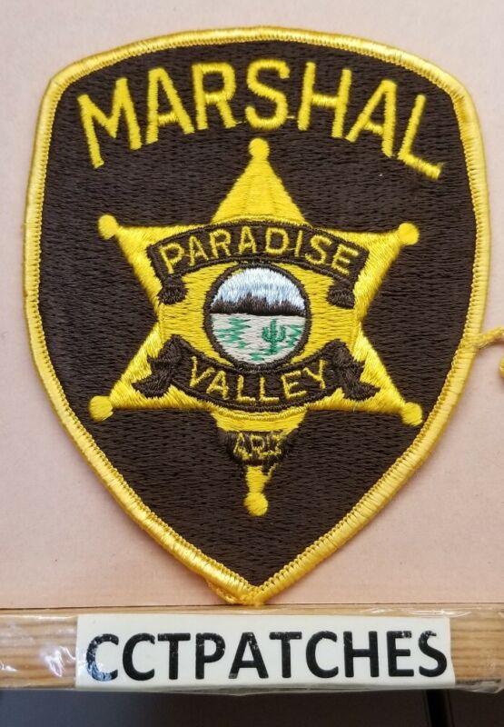 PARADISE VALLEY, ARIZONA MARSHAL (POLICE) SHOULDER PATCH AZ
