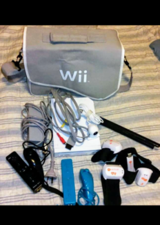 Wii Console For Sale c/w Accessories & Games.