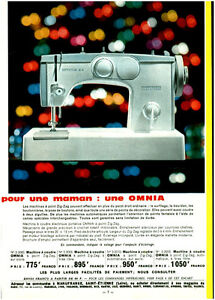 Publicit ancienne machine coudre l 39 omnia point zig zag 1968 p 11 ebay - Machine a coudre point zig zag ...