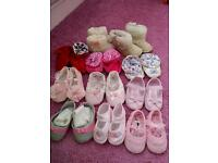 Collection of baby shoes/boots