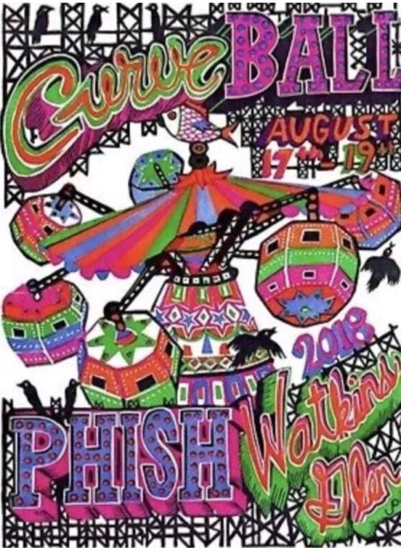 Phish Curveball Pollock Print