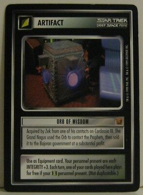 Star Trek TNG CCG Rules of Acquisition Orb of Wisdom  Rare Card
