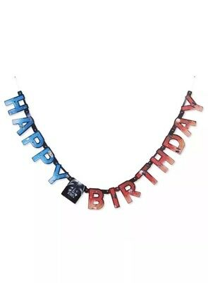 STAR WARS - Happy Birthday Banner - Hanging 6.59 ft Jointed Party Supplies - Star Wars Birthday Banner