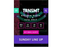 1 x ticket for TRNSMT for Sunday 9th July