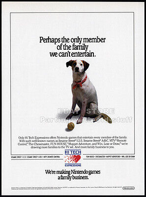 HI TECH Expressions / NINTENDO__Original 1989 Trade print AD promo_Industry Only