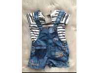 Baby girl shorts Dungarees 3-6 Months