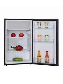 49cm Free Standing Under Counter Larder Fridge In Black | A+ Rating graded