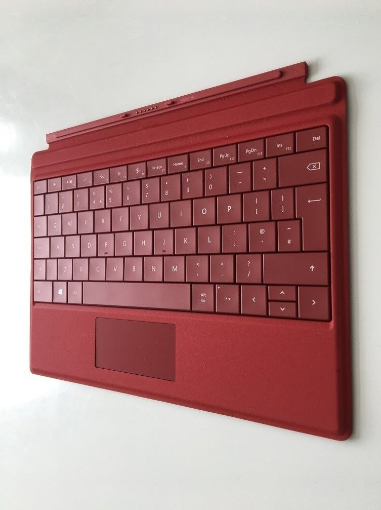 Microsoft Surface Pro 3 Type Cover Keyboard Laptop UK Keyboard Layout Red  Genuine Excellent Condi | in Beckton, London | Gumtree