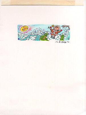 RICHARD SALA Original PAINTED ILLUSTRATION ART