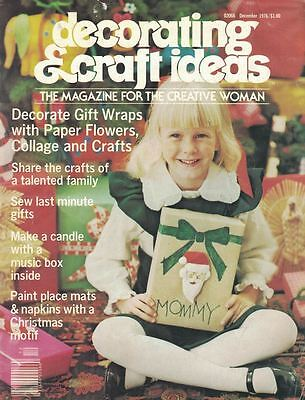 Decorating & Craft Ideas Magazine Dec 1976 Christmas Make Gift Wrap & - Craft Ideas Magazine