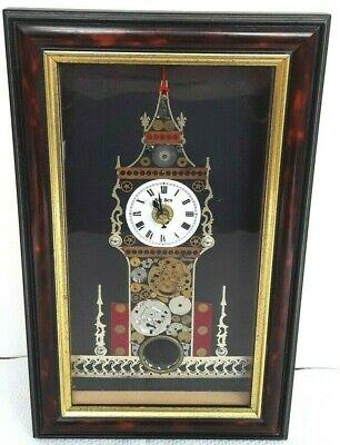 Big Ben Clock Collage Watch Parts Pendulum David of London 1983 Steampunk Works