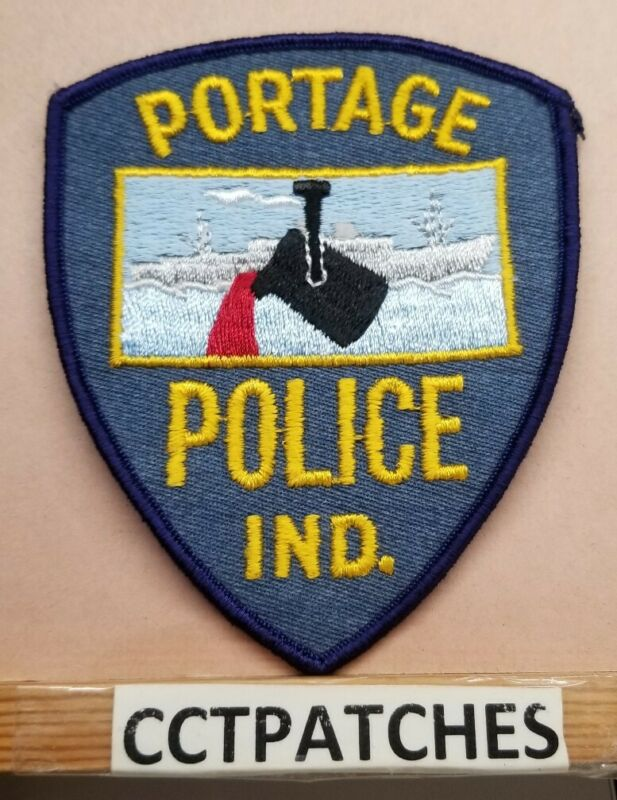 PORTAGE, INDIANA POLICE SHOULDER PATCH IN