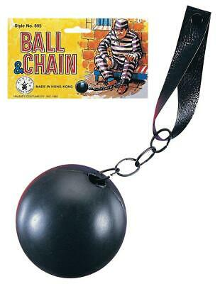 Ball And Chain Prop (Prisoner Plastic Ball and Chain Convict Inmate Jail Prop)
