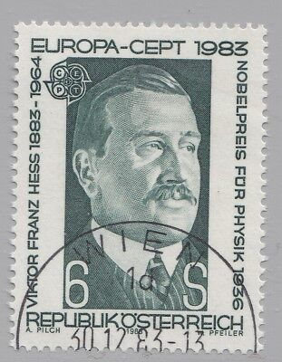 Österreich Austria 1743 CEPT Victor Franz Hess Physiker, Nobelpreisträger 1983 °
