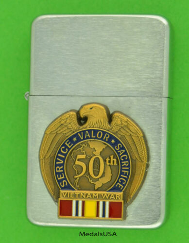 VIETNAM WAR VETERAN 50th ANNIVERSARY WIND PROOF PREMIUM LIGHTER NDSM  bc38
