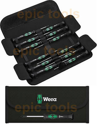Wera 12 pezzi Kraftform Micro precisione, fessura, esagonale, Torx, Ph