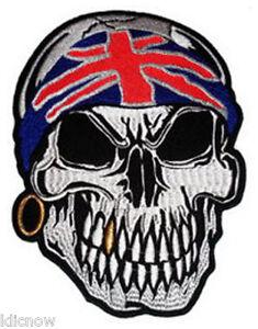 Skull-with-U-K-Bandana-Back-Patch-7-1-2-x-10-1-4-inch-19CM-x-26CM