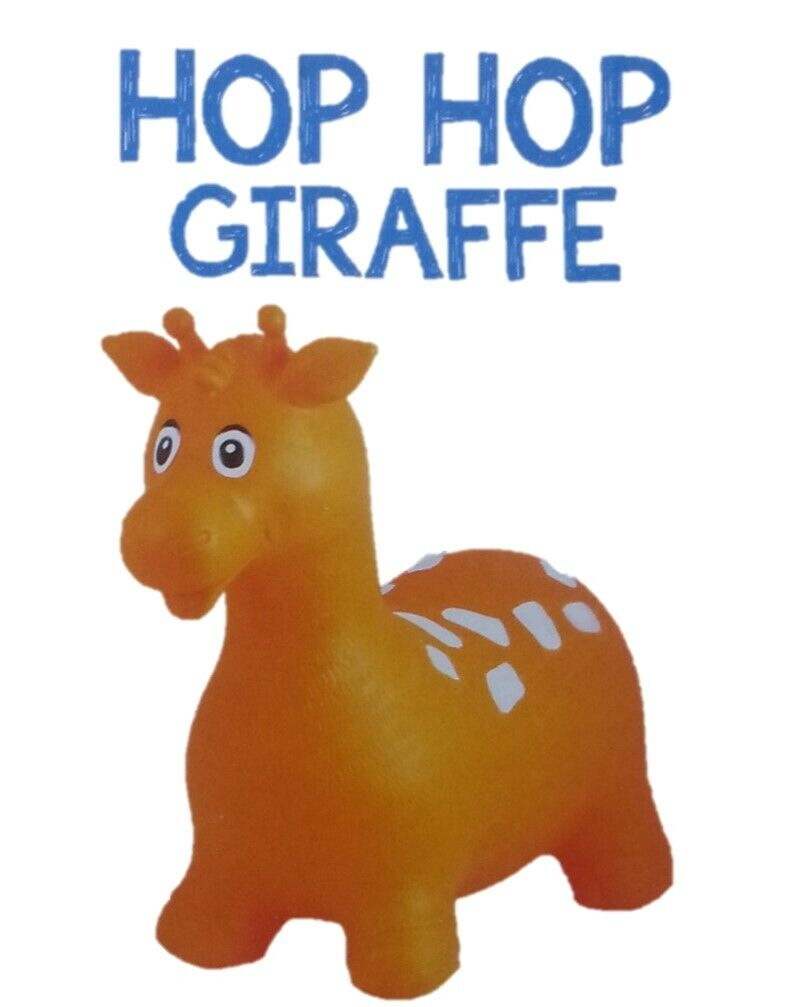 Hüpftier Giraffe Orange Springtier Hopser Sprungtier max 50 kg
