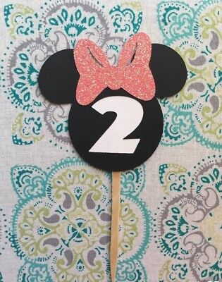Minnie Mouse With Number Cupcake Toppers