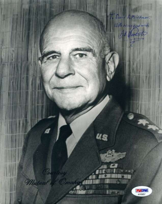 General Jimmy Doolittle Psa Dna Coa Hand Signed 8x10 Photo Autograph