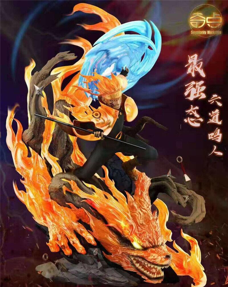 Uzumaki Naruto Rikudousennin Modo Statue GK Resin Model Singularity New