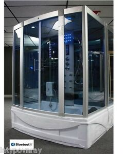 Steam-Shower-Cabin-Whirlpool-Tub-Bluetooth-6-Year-Warranty
