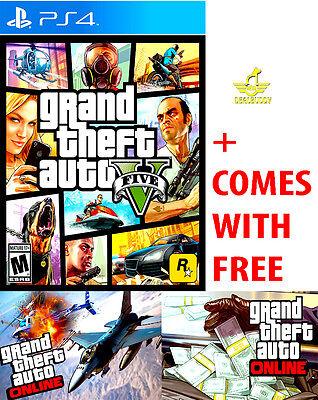 New Grand Theft Auto V 5 For The Sony Playstation 4 Ps4 Pro Gta Online Gtav Gta5