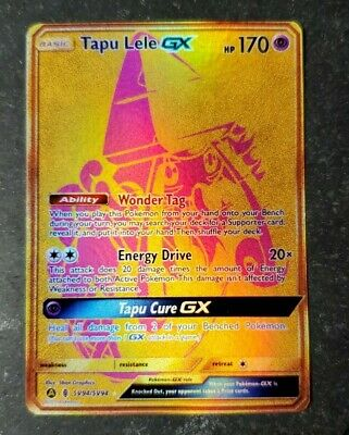 Pokemon: Tapu Lele GX SV94 FULL ART HOLO CUSTOM ORICA CARD NOT TCG READ DESCRIPT