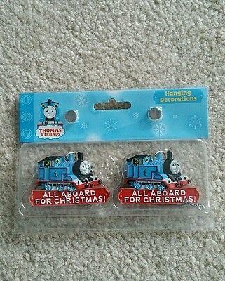 NIP NEW Set of 2 Thomas the Tank Engine Train Xmas Christmas Tree Ornament