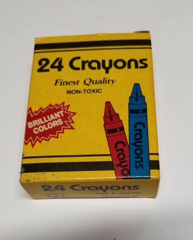 Vintage B &F International 24 Count Crayons