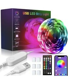 USB 10m LED Light Strips with Remote, RGB SMD 5050 Bluetooth Brand New