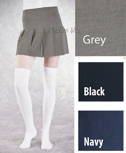 Ladies-Pleated-Womens-Skirt-Grey-Black-Navy-Sizes-6-8-10-12-14-16-18-20