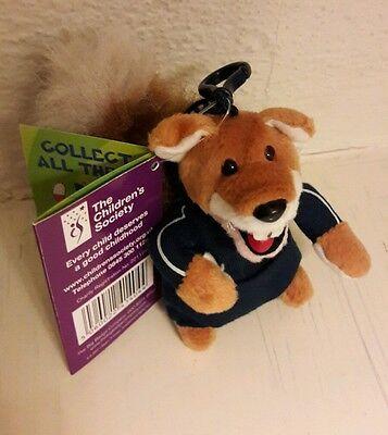 Basil Brush RARE Soft Toy Bag Clip with Tag Joke Book Children's Society