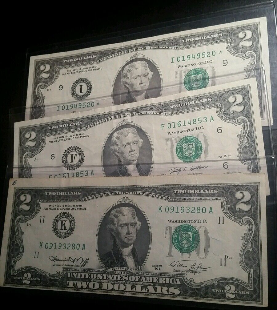 ✯Lightly Circulated 1976-2013 RARE Two Dollar Bill $2 Note Mixed Lot Fancy, BEP✯