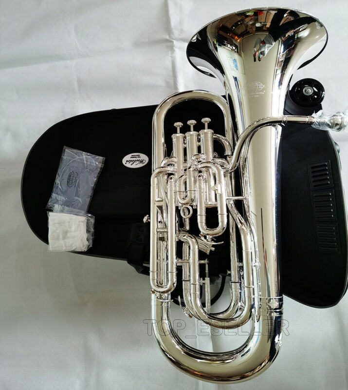 WEP-480S Bb Trigger Compensating Euphonium Silver Plated By WEIBSTER Musical